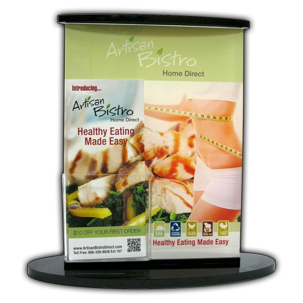 Sign Display with Attached Brochure Holder