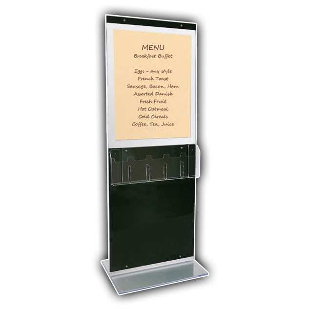 Double-Sided Poster Display with Optional Brochure Attachment