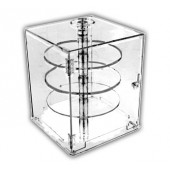 Square Short-Rise Locking Case with Rotating Shelves