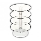 Circular Tiered Rotating Earring Display
