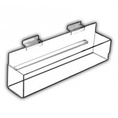 Flat-Bottom J-Shelves - With End Caps and Back Spacer