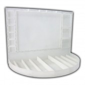 White Acrylic Make Up Display