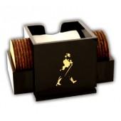 Johnnie Walker Napkin-Coaster Caddy