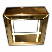Gold Mirror Acrylic Riser with Beveled Edges