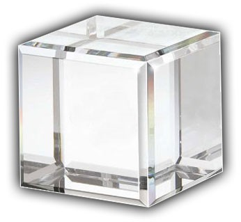 Solid Acrylic Cube