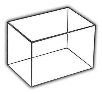 "Rectangular Box Cases with 1/4"" base"