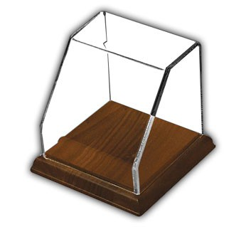 Square Angled Front Display Case with Hardwood Base