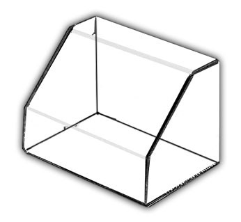 Rectangular Angled Front Display Case with Clear Base