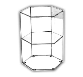 Hexagonal Open Shelf Displays