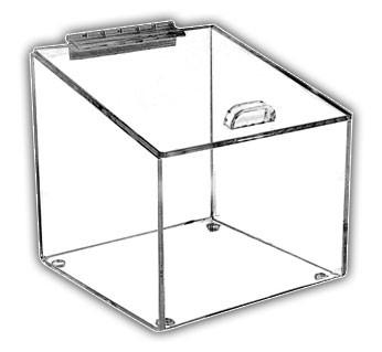 Angled-Top Box with Hinged Lid