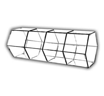 Divided Hexagonal Bins