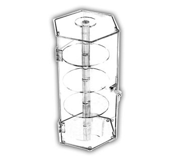Locking Case with Rotating Shelves