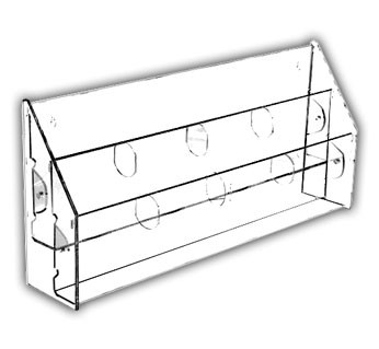 Multi-Tiered, Multi-Pocket Brochure Holders For Post Cards