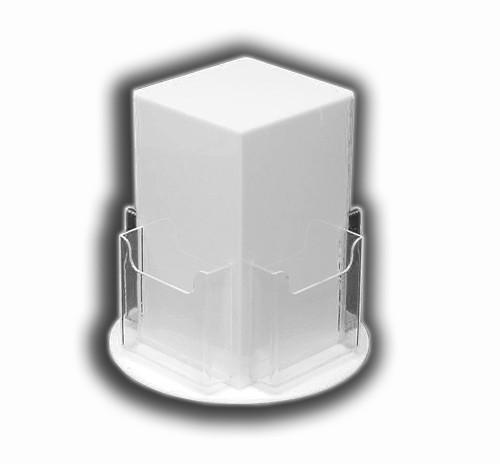 Countertop Brochure Rotators For Tri-Fold Brochures