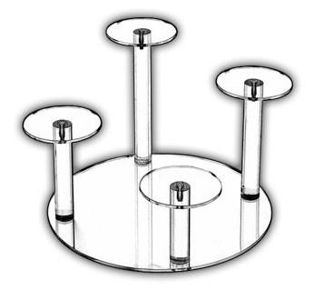 Round Base Risers - 4 Dumbbell