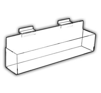 Flat-Bottom J-Shelves - With End Caps