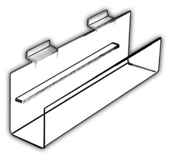 Angled-Bottom J-Shelves
