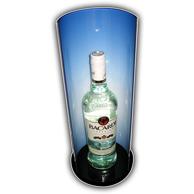 Single bottle lighted display