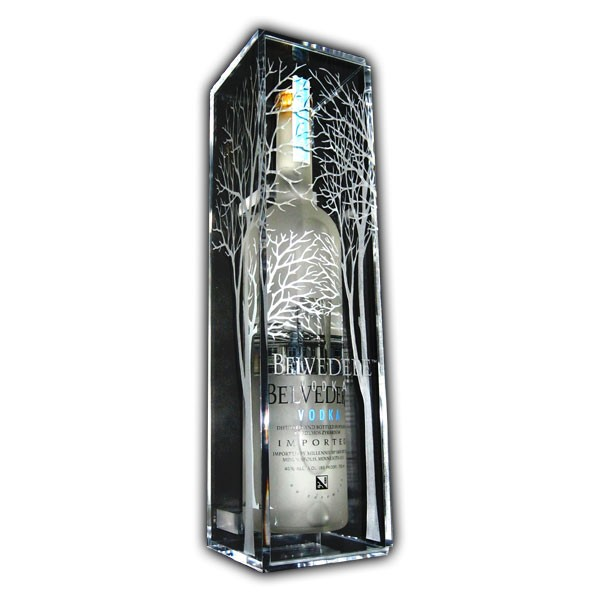 Belvedere Single Bottle Display Case