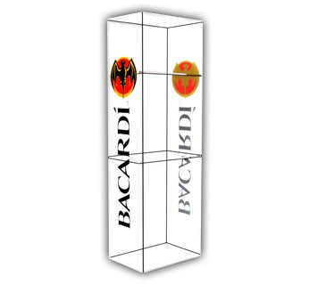 Bacardi Shelf Case