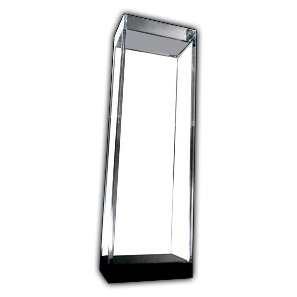 Tall Display Case with Black Base