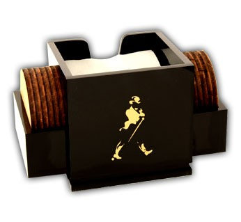 Johnnie Walker Napkin-Coaster Caddy