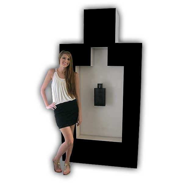 Life-Size Perfume Bottle Display