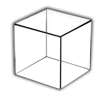 Acrylic Display Case with 1/4 Base