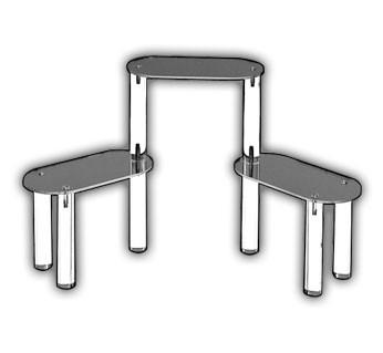 Oval Three Shelf Display