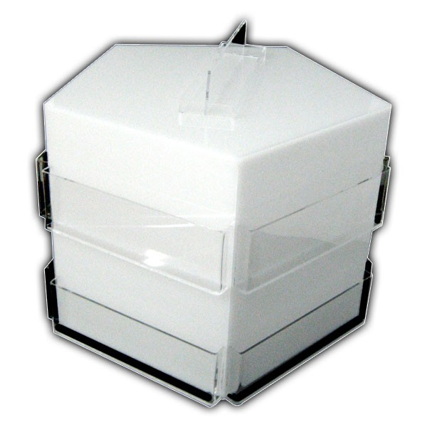 8 Pocket Brochure Dispenser on Swivel Base