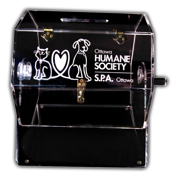 Raffle Drum with Engraving