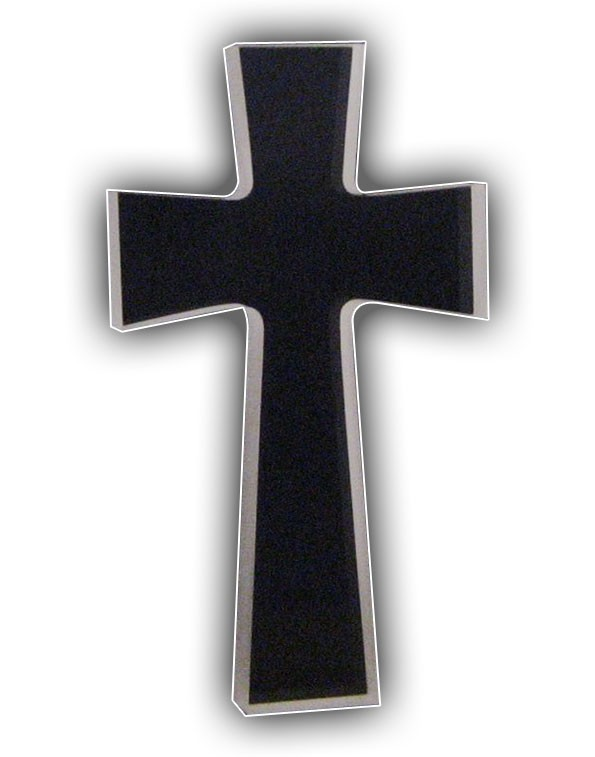 Cross with Frosted Sides